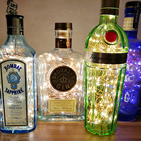Gin bottle lights