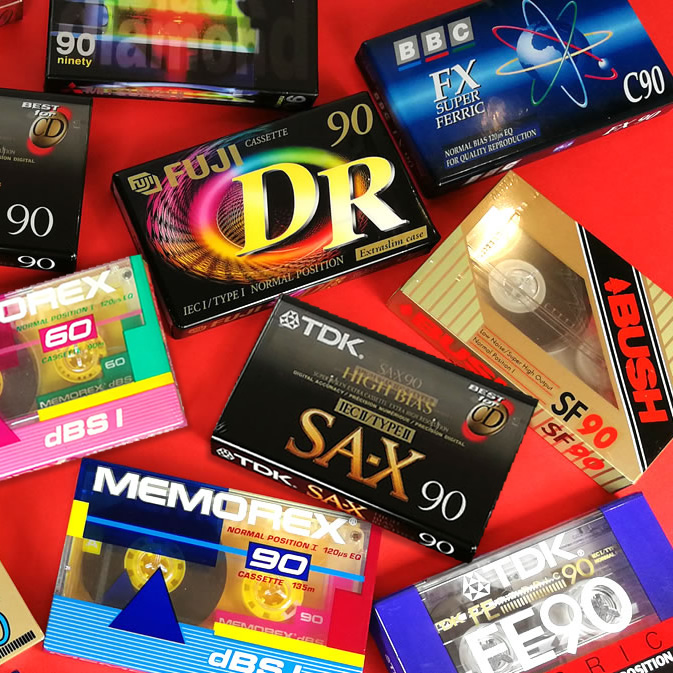Sell your old unused blank cassette tapes, MiniDiscs, VHS tapes, Elcasets or DCC tapes